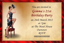 10 vintage personalised birthday invitations ref 1 party prints uk