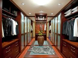 enjoyable white finished hardwood walk in closet design for