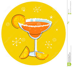 margarita glass cartoon retro margarita drink or cocktail stock vector image 22114450