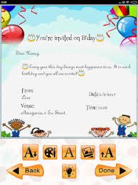 invitation maker app kids birthday invitation maker android apps on play