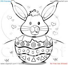 free christian christmas easter clip art black white easter bunny