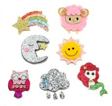 glitter felt appliques hairbow supplies etc
