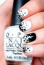Nail Art Design Black 180 Best Black U0026 White Nails Images On Pinterest Make Up Black