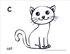 c is for cat coloring page letter c writing and coloring sheets