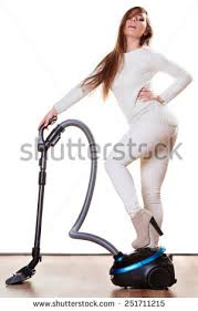 Vaccumming Woman Vacuuming House Funny Vacuum Stock Photo 474392701