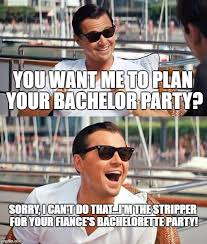 Stag Party Meme - wolf of wall street bachelor party party city hours