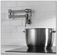 wall mount pot filler kitchen faucet sinks and faucets home