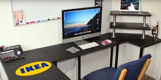ikea computer desk hack practical ikea hacks for your office workstation