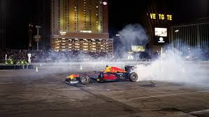 red bull light up sign max ignites sema 2017 red bull racing formula one team