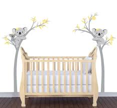 woodland baby nursery wall art fox raccoon bear owl zoo animals baby nursery large size amazon com cute koala bear tree branches wall stickers cartoon childrens
