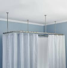 L Shaped Shower Curtain Rod Stylish Ceiling Mounted Shower Curtain John Robinson House Decor