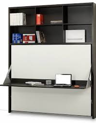 Desk Transforms Into Bed Horizontal Italian Wall Bed Desk Expand Furniture