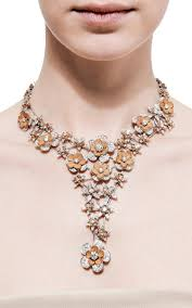 leather flower necklace images 18k white gold and leather flower necklace by wilfredo moda operandi jpg