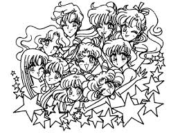 sailor moon stars coloring free printable coloring pages