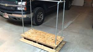 home made garage attic lift first design youtube