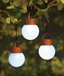 set of 3 hanging solar led lights porch patio deck outdoor yard