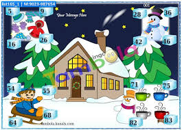 winter theme tambola housie tickets