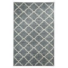 shop mohawk home fancy trellis gray rectangular indoor tufted area