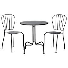 Black Metal Bistro Chairs Furniture Black Iron Bistro Sets For Vintage Patio Decor