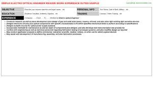 Sample Engineering Resume by Download Optical Engineer Sample Resume Haadyaooverbayresort Com