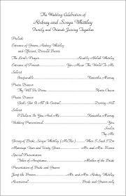 sle wedding ceremony program sles of wedding programs beneficialholdings info