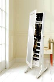 standing mirror jewelry cabinet jewelry amour and mirror in one kiss make up obsessions