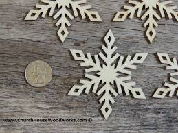 3 inch snowflake wood christmas ornaments 10 pack style 4