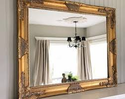 Shabby Chic Large Mirror by Large Gold Mirror Etsy