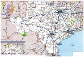 Interstate Map Of The United States by Large Roads And Highways Map Of Texas State With National Parks