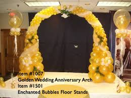 wedding arch balloons balloon arches 1007 golden wedding anniversary balloon arch