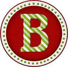 monogram christmas christmas monogram letter b clip library