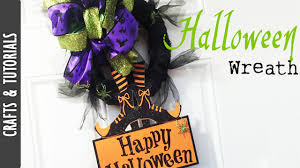 dollar store halloween wreath diy the290ss youtube