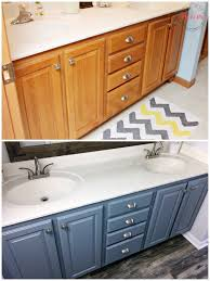 how to paint existing bathroom cabinets a fresh coat of paint and contemporary faucets instantly