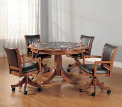 hillsdale park view round flip top gaming dining table wayside