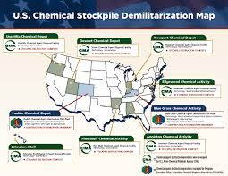 United States Map Activity by U S Chemical Weapons Stockpile And Destruction Sites Map And