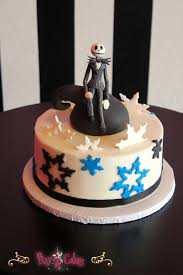 birthday cake jack nightmare before christmas 1 tier blue black