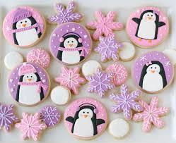 pink and purple penguin cookies u2013 glorious treats