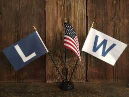 Chicago Cubs Flags Chicago Cubs W Win Flag Or L Loss Flags 4 X 6