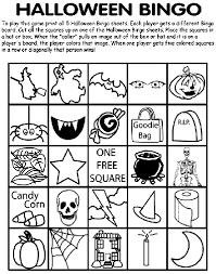 halloween bingo 1 coloring crayola halloween games