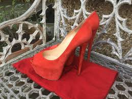 christian louboutin highness 160 pumps shoes 635 suede red u0026 pony