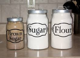 vintage canisters for kitchen everything vinyl kitchen canister labels