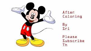 draw mickey mouse tutorial drawing coloring tutorial hd