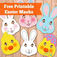 easter masks bunny rabbit and template bunny rabbit