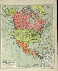 North America Climate Map by 14 Print 1935 Map North America Climate Vegitation Population