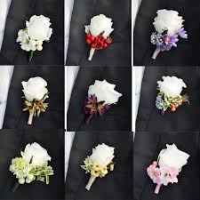boutonniere flower groom boutonniere artificial silk flower best suit
