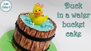 how to make duck in a water bucket cake youtube