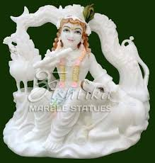 statue with marble krishna statue manufacturer from jaipur