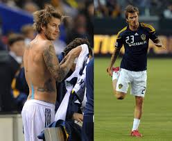 pictures of david beckham shirtless at his match back for la