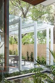 terrasse transparente transparente pour terrasse avec cadre en aluminium