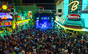 Fremont Street Las Vegas Map by Tonic And Vertical Horizon Entertained Music Lovers With A Free